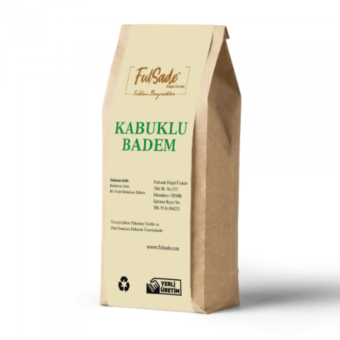 Kabuklu Badem / Yerli / 500 Gr