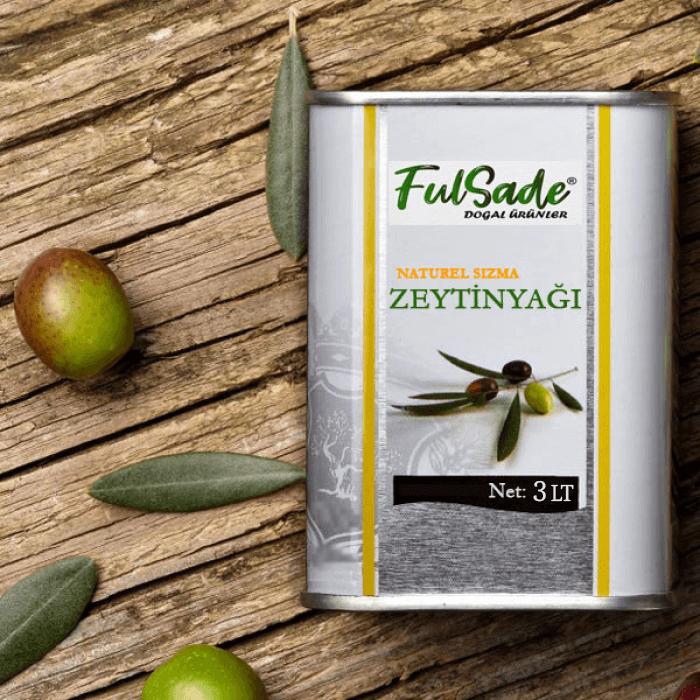 Zeytinyağı 3 Litre / Naturel Sızma